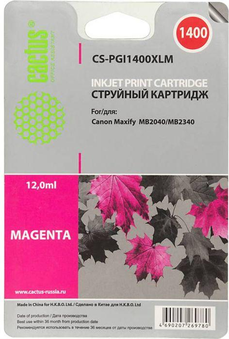 Картридж Cactus CS-PGI1400XLM, пурпурный, для струйного принтера