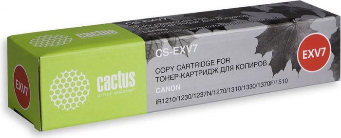Картридж Cactus CS-EXV7, черный, для лазерного принтера