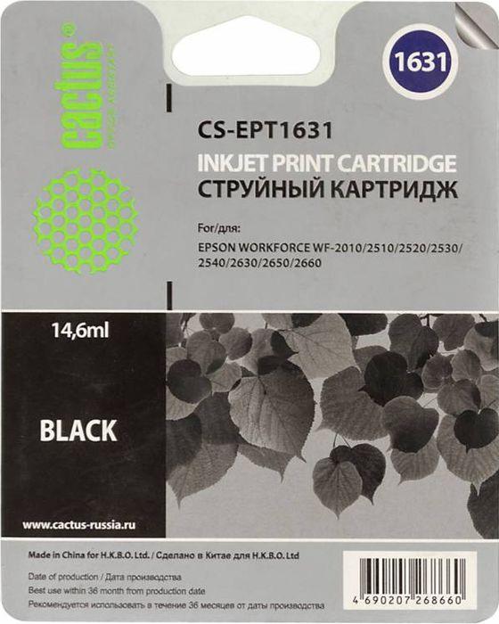 Cactus CS-EPT1631, Black картридж струйный для Epson WF-2010/2510/2520/2530/2540/2630/2650/2660 картридж cactus cs ept1631 для epson wf 2010 2510 2520 2530 2540 2630 2650 2660 черный