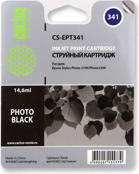 Cactus CS-EPT341, Black картридж струйный для Epson Stylus Photo 2100 картридж для принтера cactus cs pgi7bk black