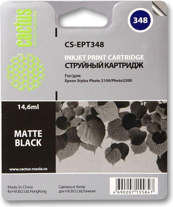 Cactus CS-EPT348, Matte Black матовый картридж струйный для Epson Stylus Photo 2100 цена