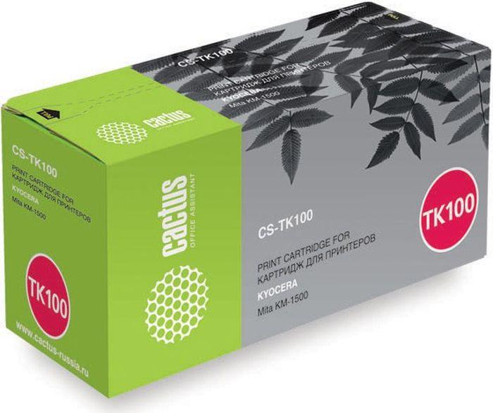 Cactus CS-TK100, Black тонер-картридж для Kyocera Mita KM-1500