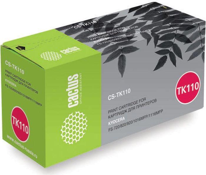 Картридж Cactus CS-TK110, черный, для лазерного принтера