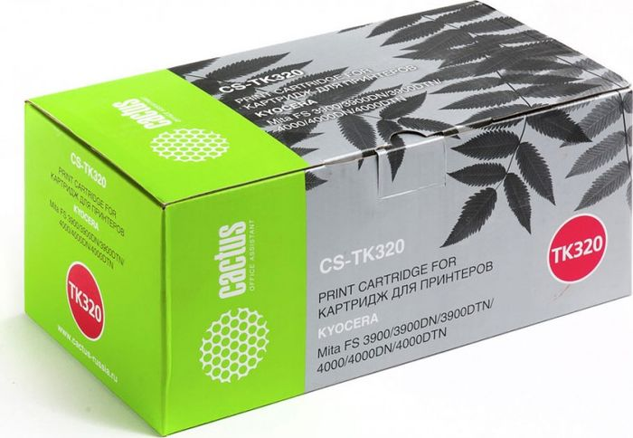 Картридж Cactus CS-TK320, черный, для лазерного принтера