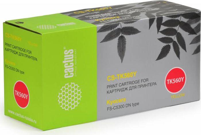 Картридж Cactus CS-TK560Y, желтый, для лазерного принтера