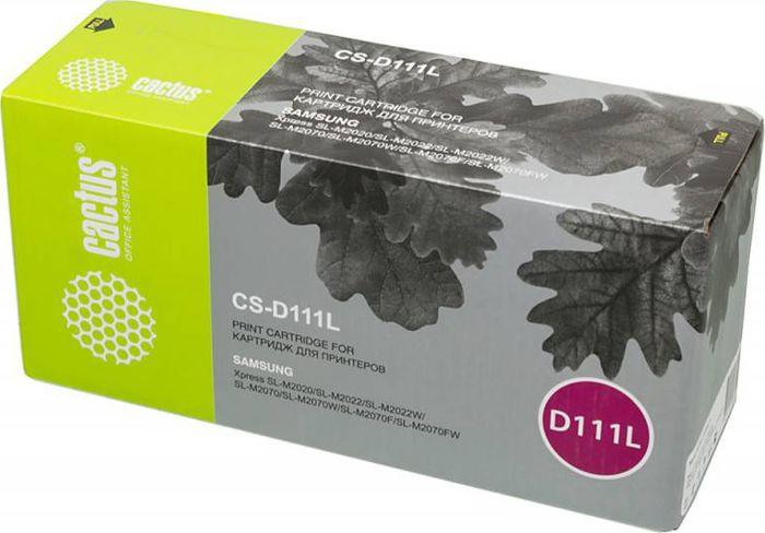 Cactus CS-D111L, Black тонер-картридж для Samsung Xpress M2022/M2020/M2021/M2020W/M2070 картридж cactus cs d111l черный