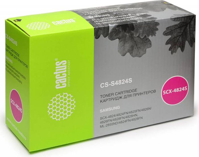 Cactus D20L CS-S4824S, Black тонер-картридж для Samsung SCX-4824FN/4828FN/ML-2855 картридж sakura mltd209l для samsung ml 2855nd scx 4824fn 4828fn
