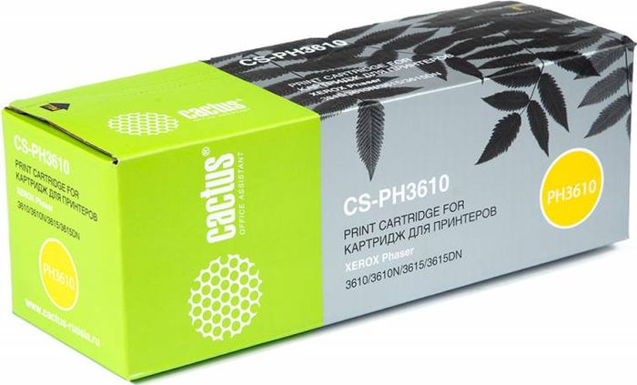 Cactus CS-PH3610 106R02721, Black тонер-картридж для Xerox Phaser 3610/3610N/3615/3615DN