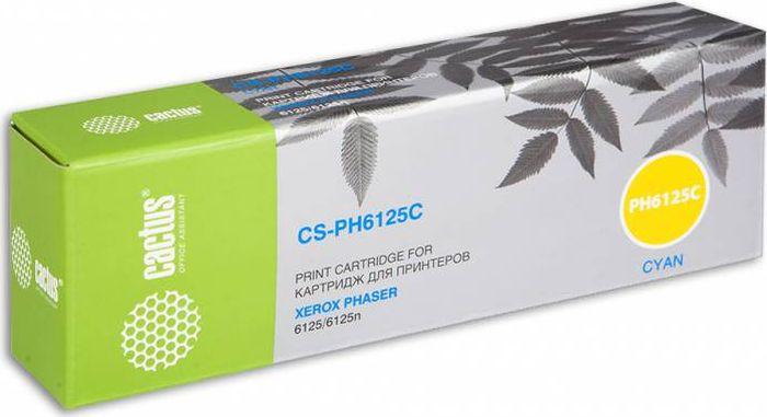 Тонер-картридж Cactus CS-PH6125C 106R01335 для лазерных принтеров Xerox Phaser 6125, голубой