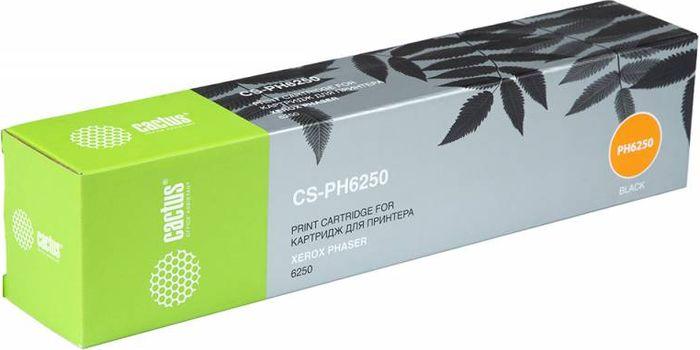 Тонер-картридж Cactus CS-PH6250 106R00671 для лазерных принтеров Xerox Phaser 6250, черный тонер картридж cactus cs ph3117 для принтеров xerox phaser 3117 3122 3124 3125 черный 3000 стр