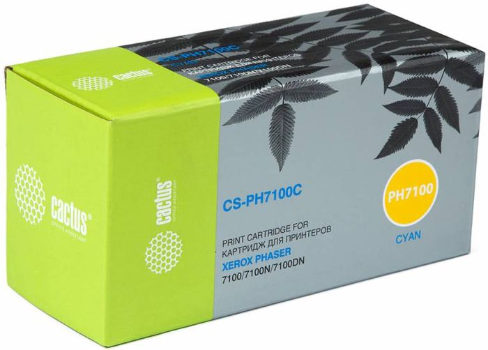 Картридж Cactus CS-PH7100C 106R02606, голубой, для лазерного принтера