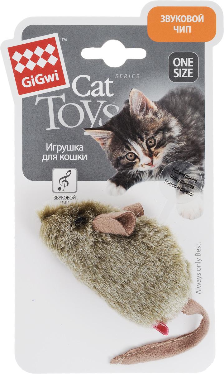 Игрушка для кошек GiGwi Мышка, музыкальная игрушка для кошек gigwi интерактивная мышка длина 8 5 см