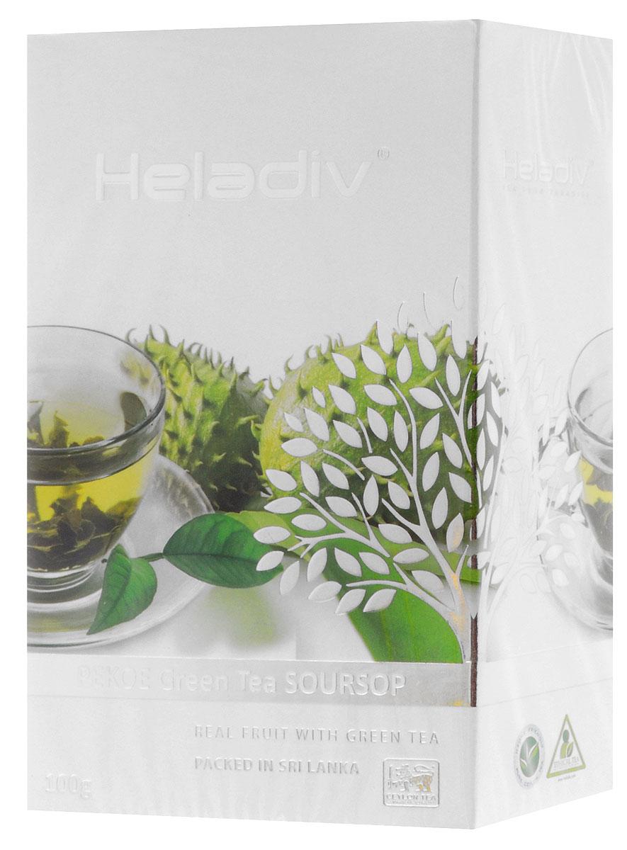 Heladiv Pekoe Green Soursop чай зеленый с саусепом листовой, 100 г
