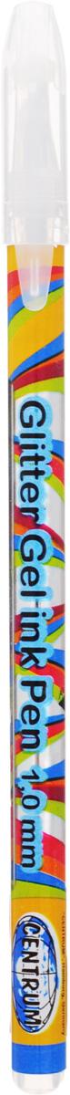 """Ручка гелевая серебро """"PLASMA"""" с металлическим наконечником 0,8 мм в прозрачном корпусе с пластиковыми вставками, клип в цвет чернил. 12 шт."""