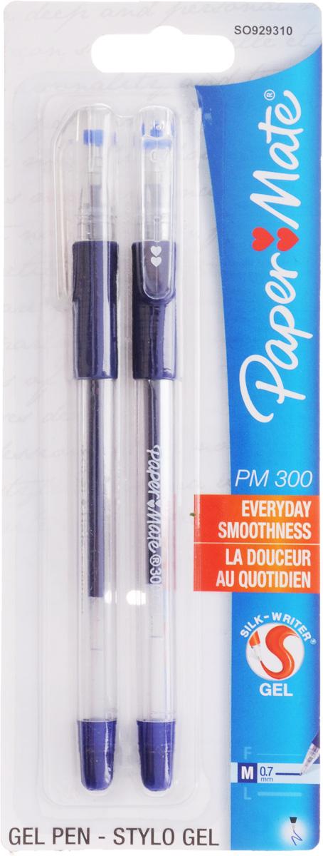 Ручка гелевая PM 300, синяя, 0,7мм, 2 шт. в блистере набор гелевых ручек paper mate pm 300 2 шт черный 0 7 мм pm s0929300