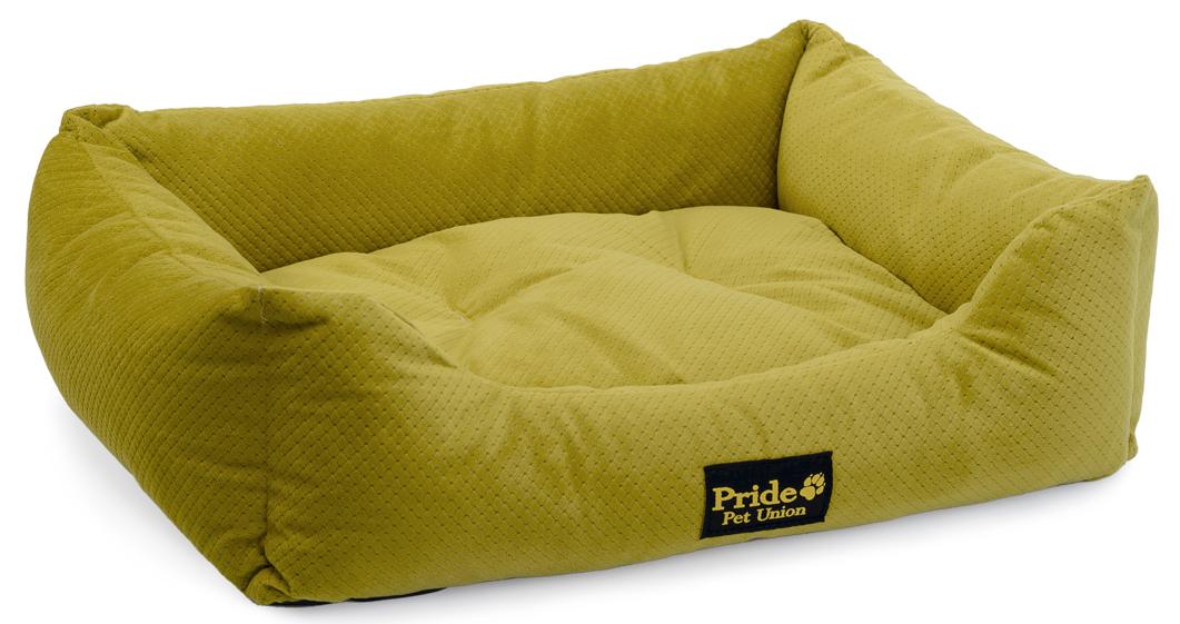 """Лежак для животных Pride """"Престиж"""", цвет: зеленый, 70 х 60 х 23 см"""