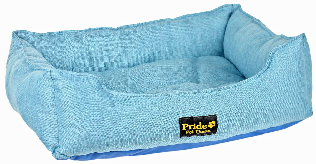 "Лежак для животных Pride ""Прованс"", цвет: голубой, 52 х 41 х 10 см"