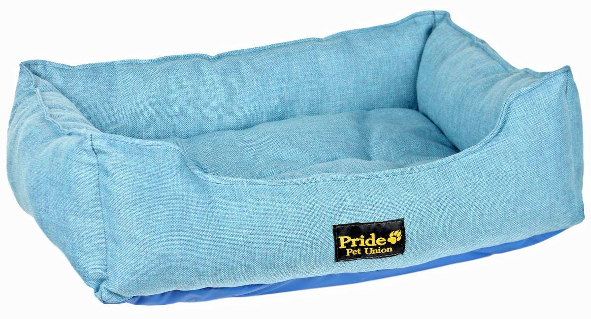 Лежак для животных Pride Прованс, цвет: голубой, 58 х 48 х 15 см