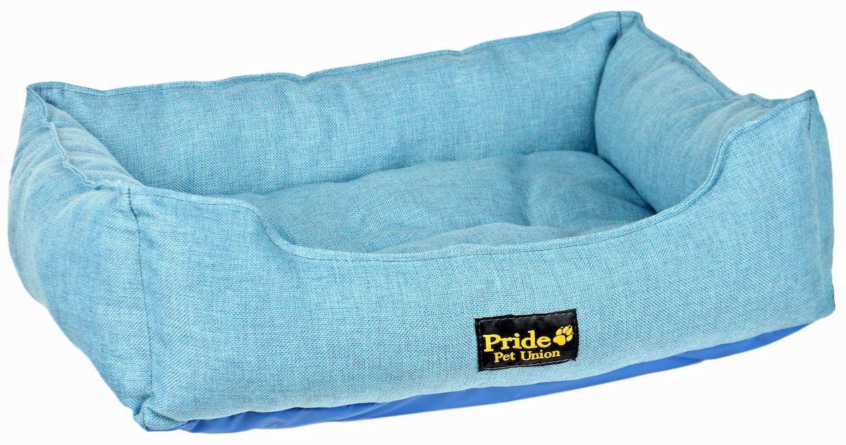 Лежак для животных Pride Прованс, цвет: голубой, 85 х 72 х 20 см лежак для животных pride мехико 10011621 желтый 53 х 53 х 20 см