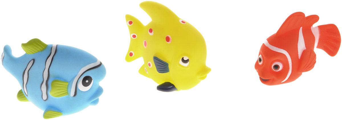 Жирафики Набор игрушек для ванной Маленькие рыбки 3 шт игрушки для новорожденного малыша