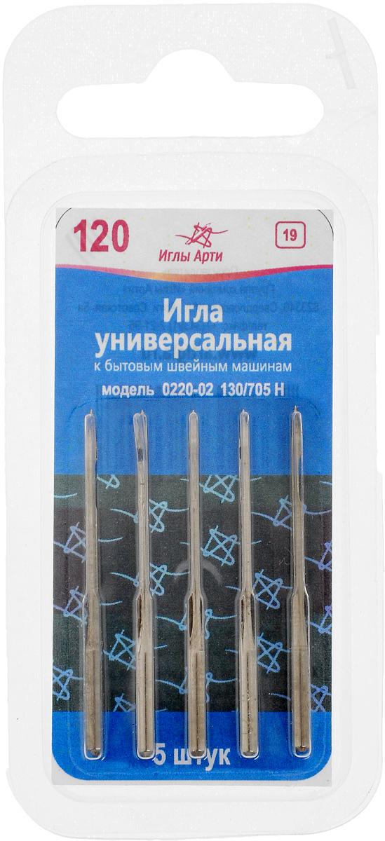 Иглы для швейных машин Иглы Арти, универсальные, №120, 5 шт иглы latch needle sk 860