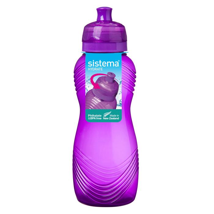 Бутылка для воды Sistema Hydrate, цвет: фиолетовый, 600 мл sistema бутылка для воды hydrate 620 мл 6 7х22 5 см 795 sistema