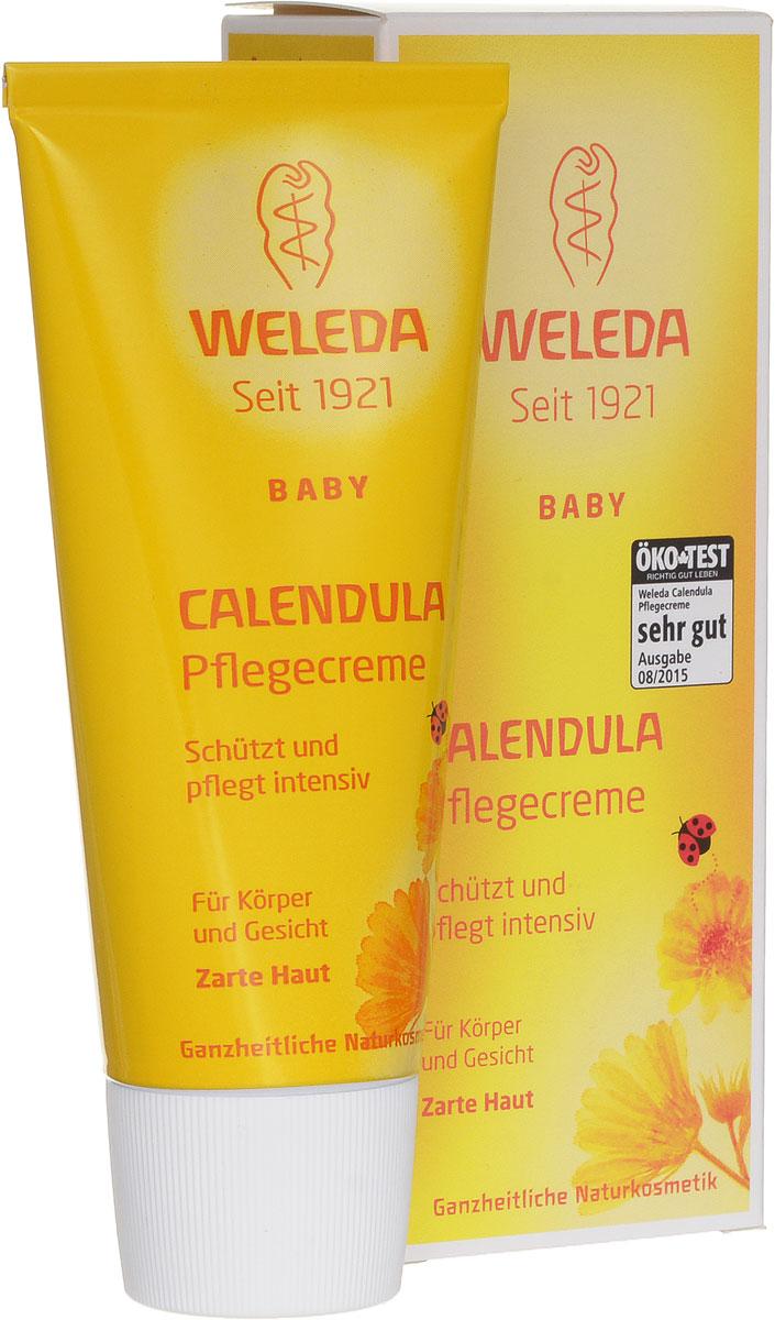 Weleda Крем для тела Baby, с календулой, 75 мл9654Крем для тела с экстрактом календулы и ромашки - это ароматный увлажняющий крем с успокаивающим эффектом, предназначенный для ежедневного ухода за лицом и телом вашего малыша. Крем для тела может применяться для профилактики опрелостей. Действующими веществами крема являются масляные экстракты календулы и цветков ромашки, обладающих противовоспалительным эффектом. Благодаря им кожа ребенка остается мягкой и эластичной и легко справляется с мелкими раздражениями. Входящие в состав крема пчелиный воск и ланолин защищают кожу от внешних раздражителей, при этом они не снижают дыхательную функцию кожи. Крем хорошо увлажняет кожу ребенка. Легко втирается и быстро впитывается кожей. Товар сертифицирован. Рекомендуем!