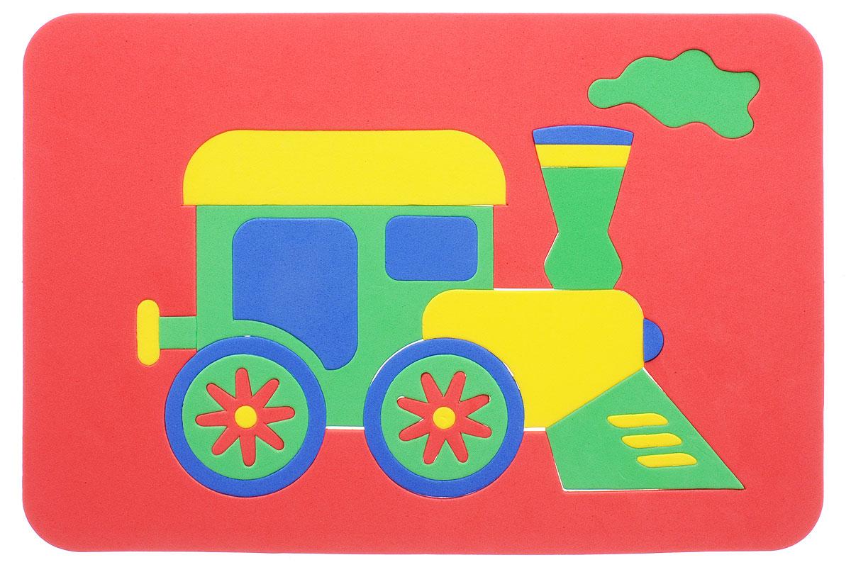 Август Пазл для малышей Паровозик цвет основы красный фантазер пазл для малышей дом и дерево цвет основы оранжевый