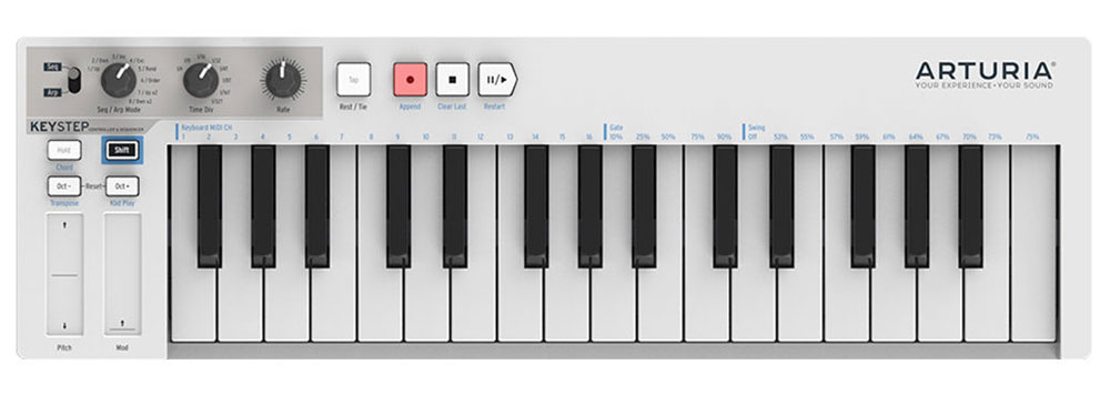 Arturia KeyStep MIDI-клавиатура midi клавиатура arturia keylab essential 61 mci55703 черный