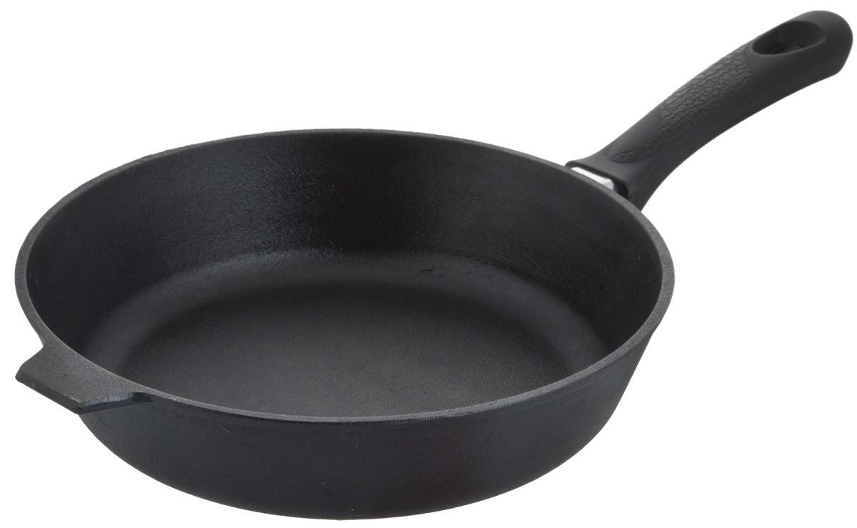 Сковорода чугунная Добрыня. Диаметр 26 см. DO-3319 сковорода чугунная добрыня с крышкой диаметр 26 см do 3318