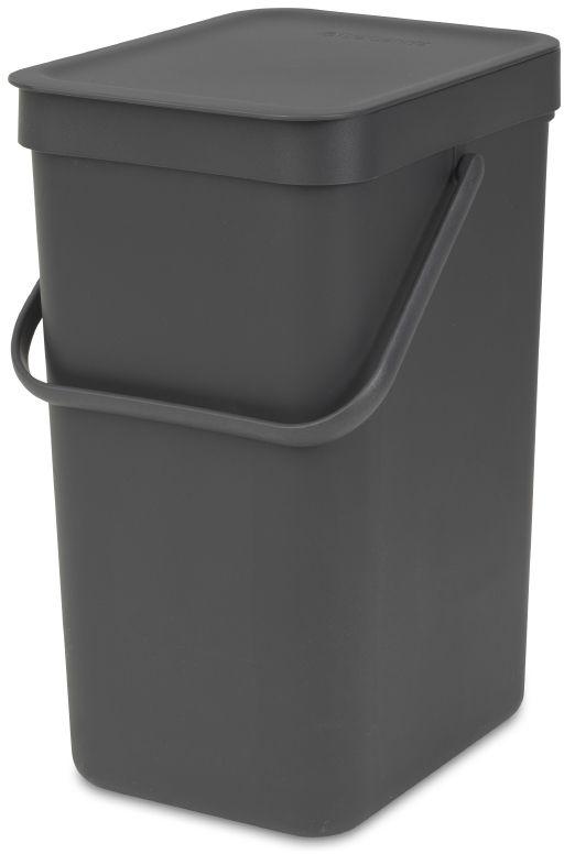 """Ведро для мусора Brabantia """"Sort & Go"""", встраиваемое, цвет: серый, 12 л. 109805"""