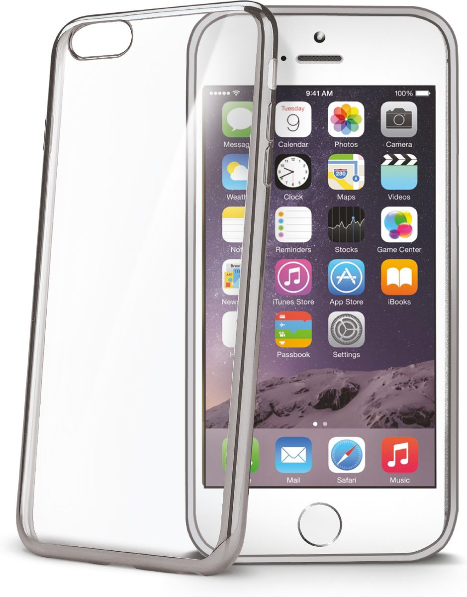 Celly Laser чехол для Apple iPhone 6/6s, Silver Clear полотно stanley для металла laser 18 10шт 1 15 557