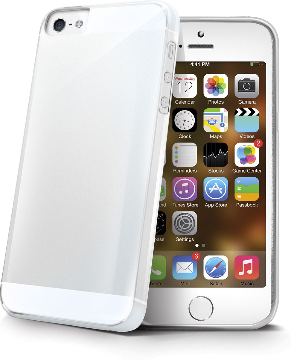 Celly Gelskin чехол для Apple iPhone 5/5s/SE, Clear interstep чехол аккумулятор для apple iphone 5 5s se gray 2200 мач