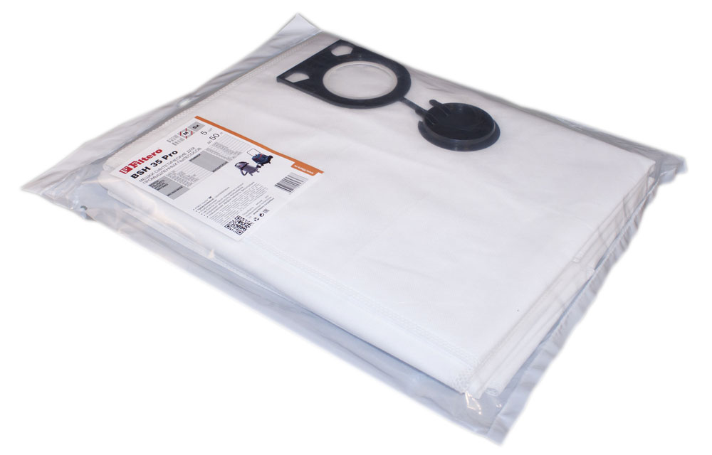 Filtero BSH 35 Pro комплект пылесборников для промышленных пылесосов, 5 шт мешок пылесборник filtero bsh 35 5 pro