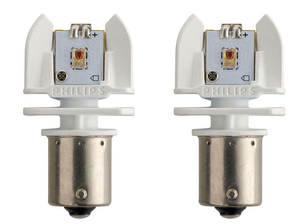 Лампа автомобильная светодиодная Philips X-tremeVision LED, сигнальная, цоколь P21W (BA15s), 12-24V, 2W, 2 шт радиобудильник philips aj3123 12