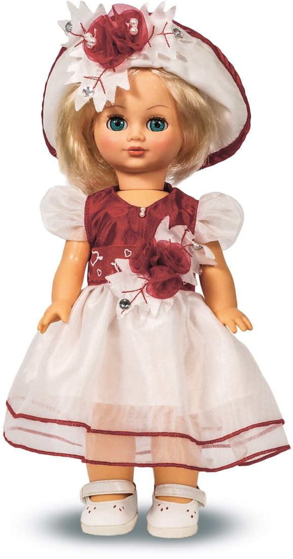 Весна Кукла озвученная Элла цвет платья белый бордовый