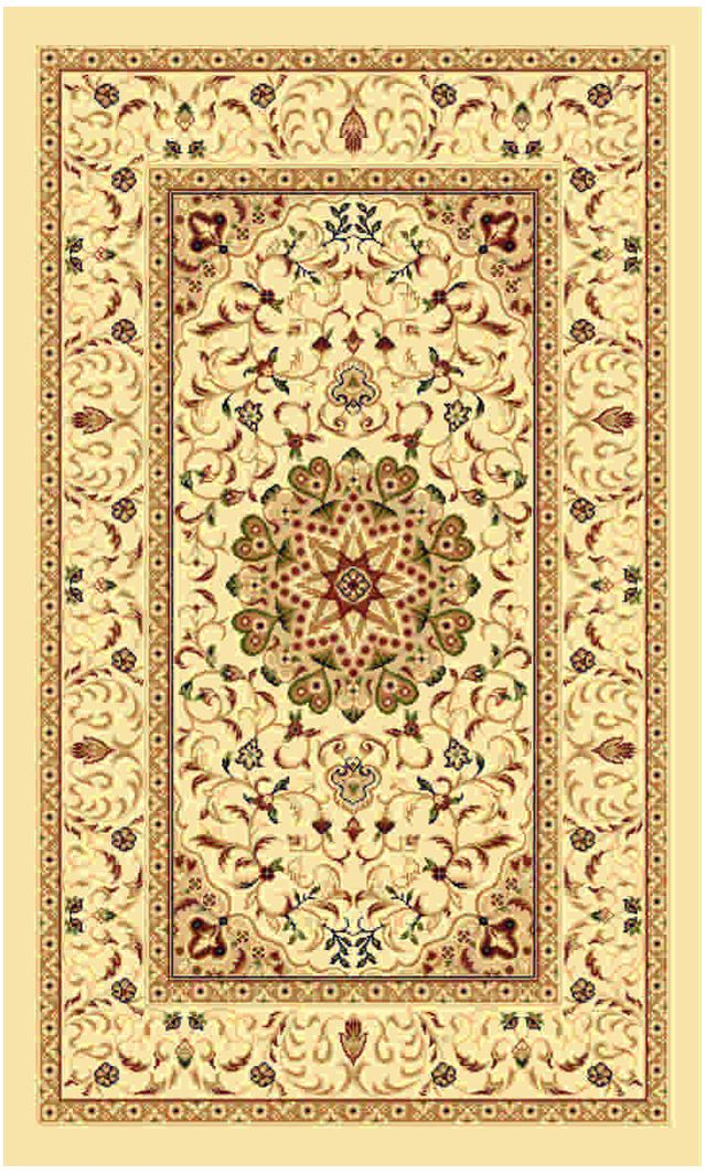 Ковер Kamalak Tekstil, 100 x 150 см. УК-0373 ковер kamalak tekstil прямоугольный цвет кремовый 100 x 150 см ук 0400
