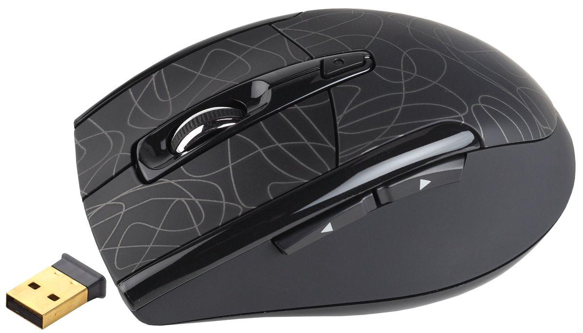 лучшая цена Мышь беспроводная Intro Wireless black-3С MW206-3С