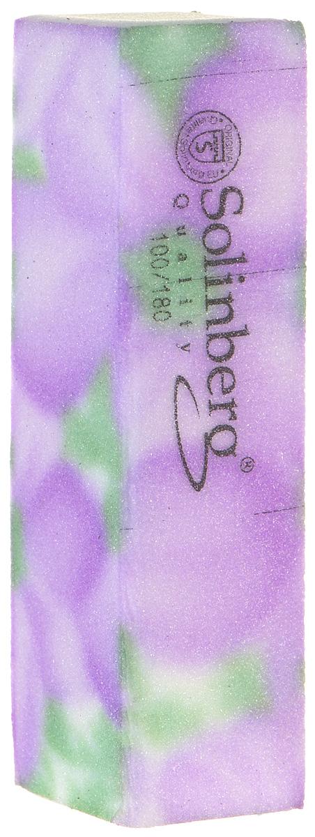 Брусок полировочный Solinberg 439, 2 в 1 (100/180), цвет: сиреневый, длина 9 см алмазный брусок extra fine 1200 mesh 9 micron dmt d6e