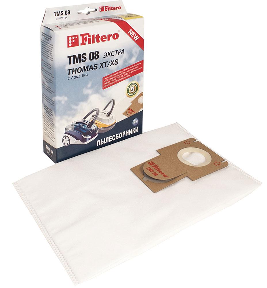 Filtero TMS 08 Экстра комплект пылесборников для Thomas XT/XS, 3 шт насадка для пылесоса thomas parquet aqua stealt 787247