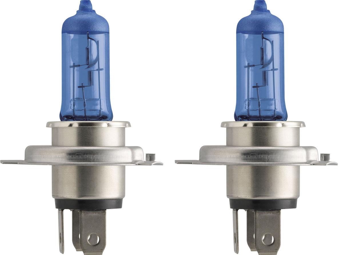 """Лампа автомобильная галогенная Philips """"DiamondVision"""", для фар, цоколь H4 (P43t), 12V, 60/55W, 2 шт"""