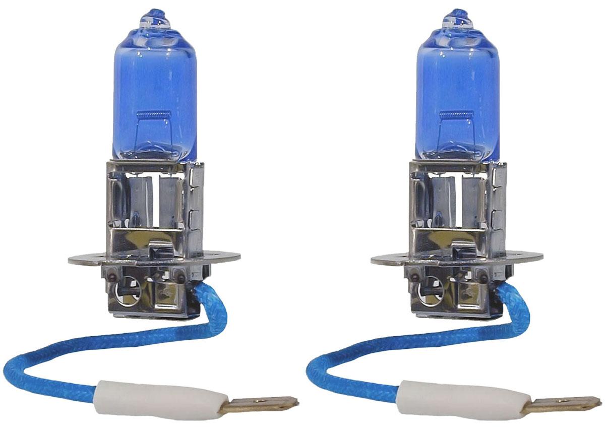 Лампа автомобильная галогенная Philips DiamondVision, для фар, цоколь H3 (PK22s), 12V, 55W, 2 шт