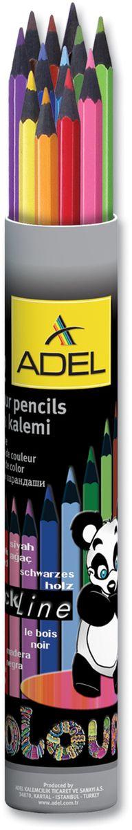 Adel Набор цветных карандашей Blackline PBT 12 цветов