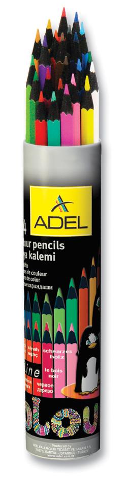 AdelНабор цветных карандашей Blackline PB 24 цвета 211-2362-003 Adel