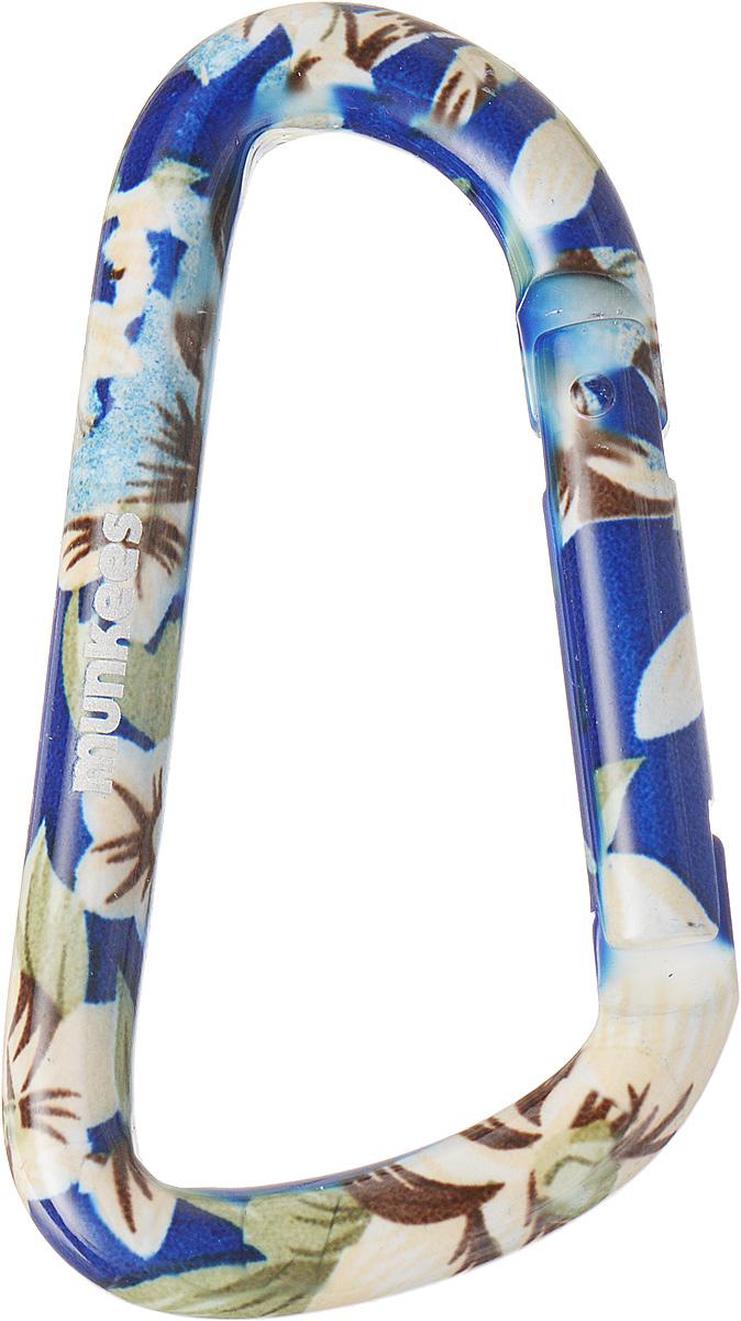 Карабин Munkees Голубой цветок, толщина 8 мм, длина 80 мм