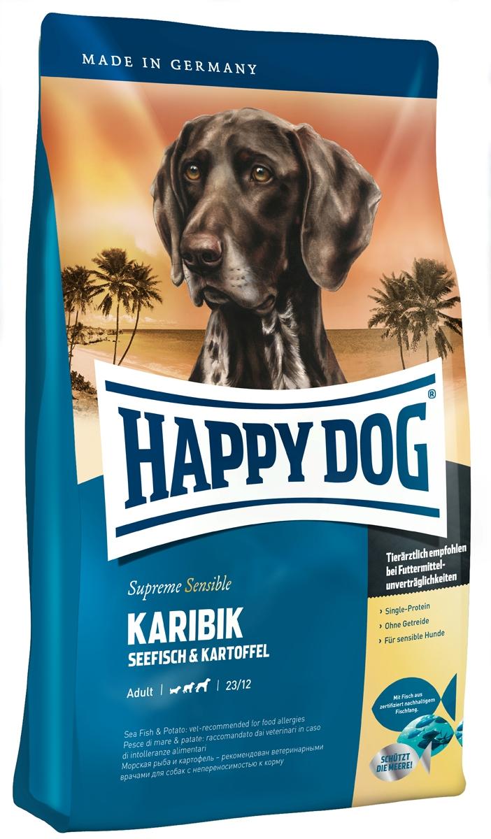 """Корм сухой Happy Dog """"Карибик"""" для взрослых собак, с морской рыбой, 1 кг"""