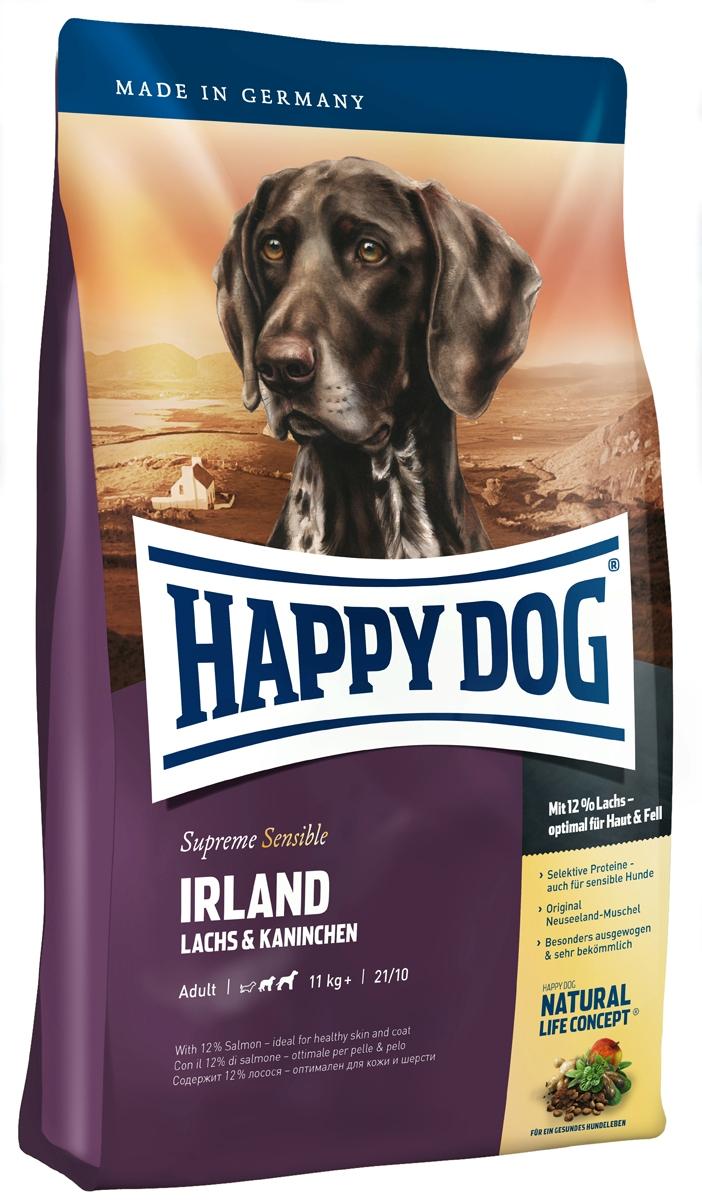 """Корм сухой Happy Dog """"Ирландия"""" для собак средних и крупных пород, с лососем и кроликом, 1 кг"""