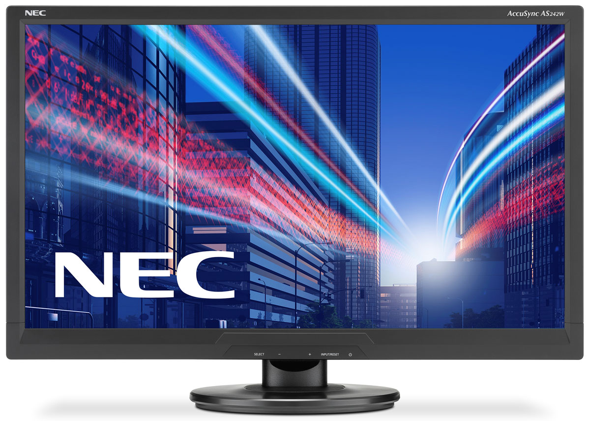 NEC AS242W-BK, Black монитор
