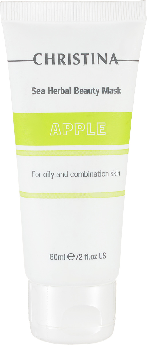 Christina Яблочная маска красоты для жирной и комбинированной кожи Sea Herbal Beauty Mask Green Apple 60 мл gigi маска красоты для жирной кожи 75 мл