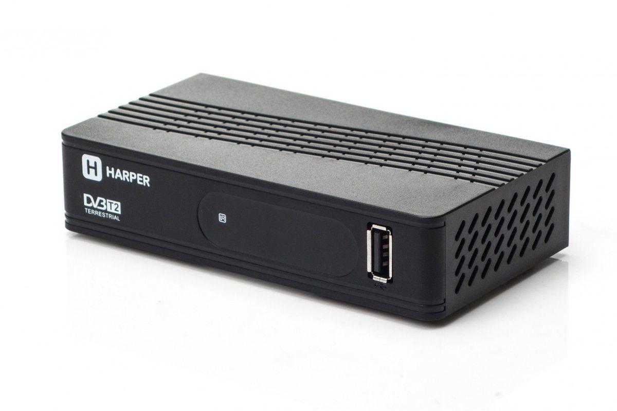 Harper HDT2-1202, Black телевизионный ресивер DVB-T2 Уцененный товар (№28)